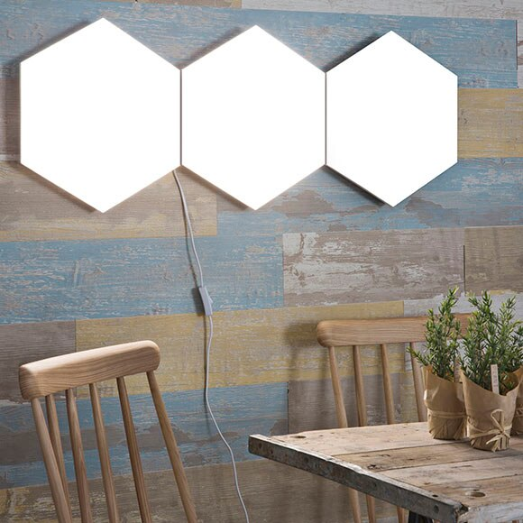 Panel led inspire puzzle hexagonal 9 ref 17934693 leroy for Panel led leroy merlin