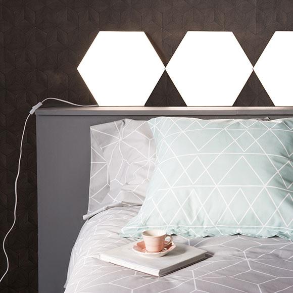 Panel led inspire extensi n puzzle hexagonal 18 ref - Panel led 60x60 leroy merlin ...