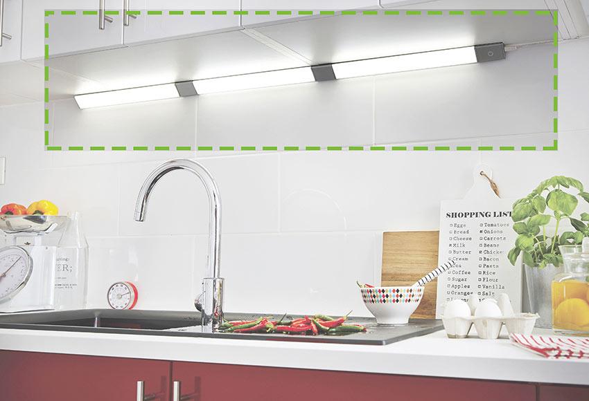 Regleta led inspire rio triangular 3 5w ref 17707340 - Regleta led cocina ...
