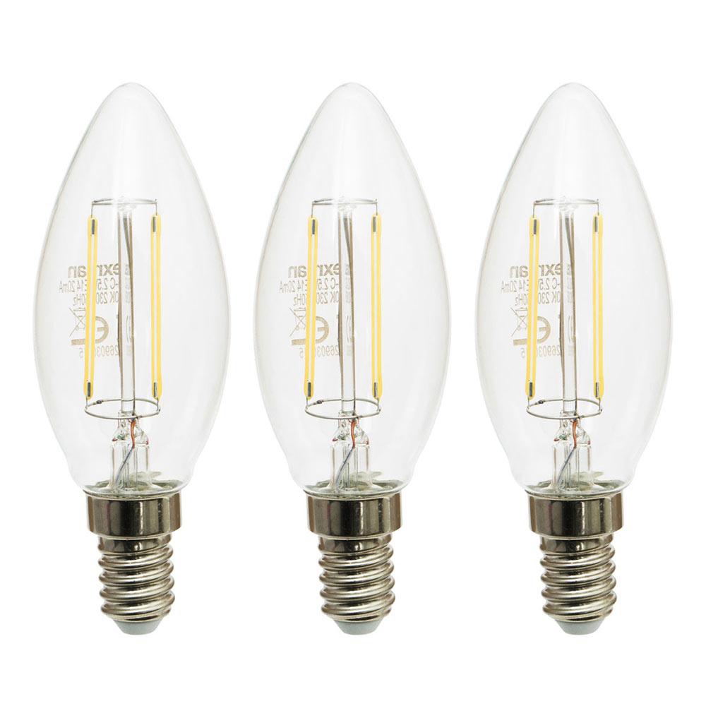 Pack 3 bombillas led e14 vela filamento 360 lexman ref for Bombillas led leroy