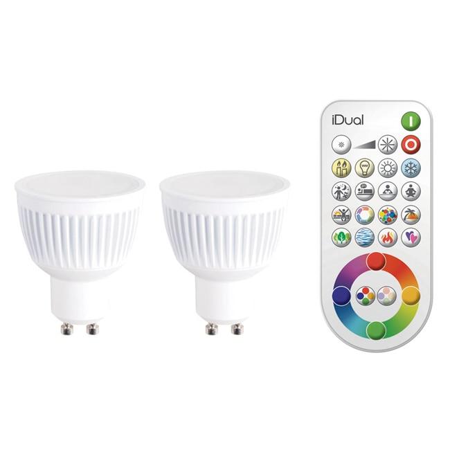 Bombilla led inteligente gu10 jedi lighting rgb ref for Leroy merlin lampadine led