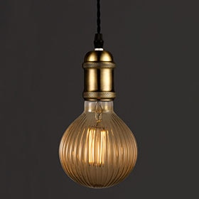 Bombilla LED decorativa Wofi E27 125 oro 4W 1800K