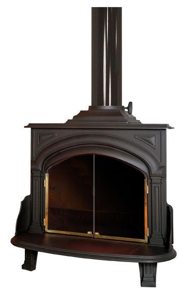 Estufa de hierro fundido hergom franklin 90 ref 10747464 - Estufas electricas bajo consumo leroy merlin ...