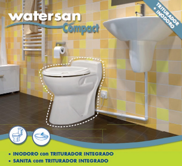 triturador bombeador compacto con 2 salidas sfa watersan compact ref 13343162 leroy merlin. Black Bedroom Furniture Sets. Home Design Ideas