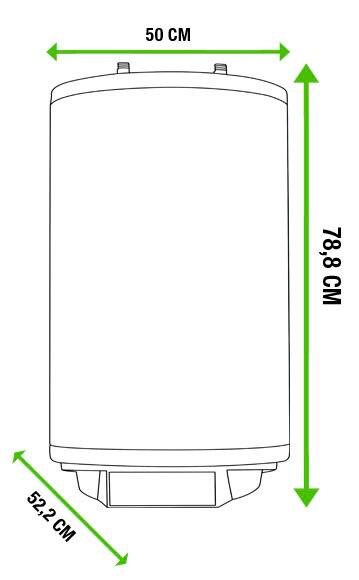 Termo el ctrico fagor redondo exterior ref 17883992 - Termo electrico exterior ...