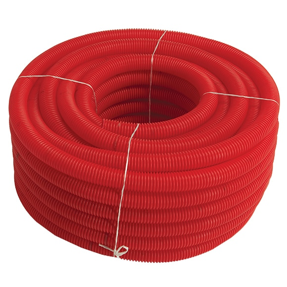 tubo rojo 13 mm tubo corrugado rojo 20 m ref 14113603
