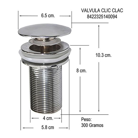 V lvula para lavabo clic clac ref 13737731 leroy merlin - Valvulas para lavabos ...