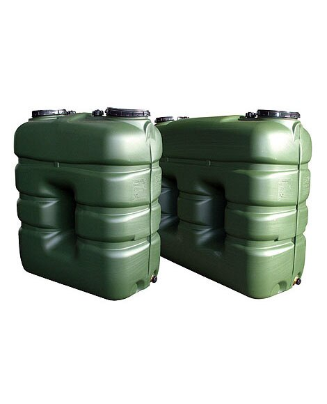 Dep sito de agua rectangular r3000 ref 13512163 leroy for Deposito agua pluvial