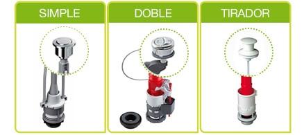 Mecanismos de cisterna de wc leroy merlin for Mecanismo cisterna doble pulsador