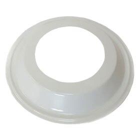Brida de pared de 100 mm de di/ámetro con v/álvula antirretorno conector tubo de ventilaci/ón redondo pieza de conexi/ón