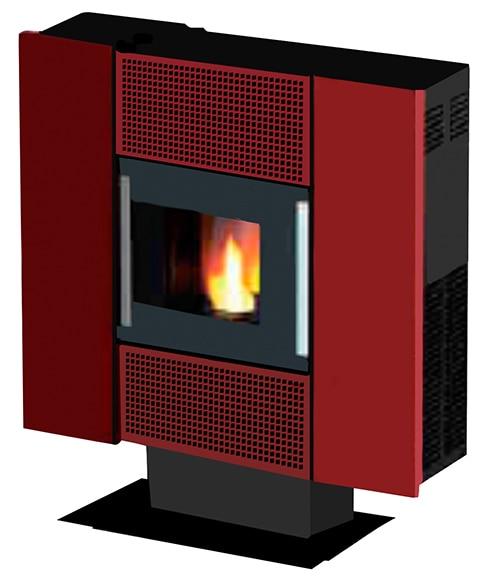 estufa de pellets de aire freepoint square ref 16560852. Black Bedroom Furniture Sets. Home Design Ideas