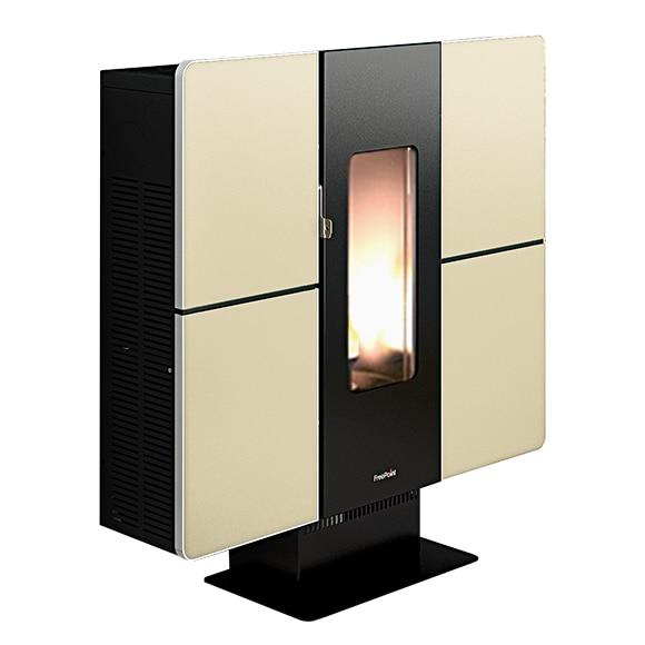 estufa de pellets canalizable freepoint small ref 16582363 leroy merlin. Black Bedroom Furniture Sets. Home Design Ideas