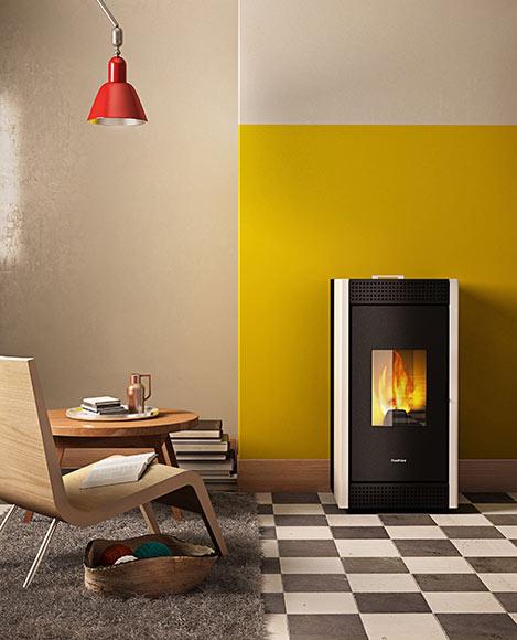 estufa de pellets de aire freepoint verve ref 17917375 leroy merlin. Black Bedroom Furniture Sets. Home Design Ideas