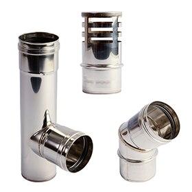 Tubos y accesorios para evacuaci n de humos leroy merlin - Tubos para salida humos cocina ...