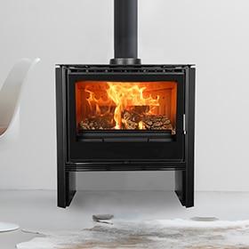 Estufas a lea modernas chimenea de lea moderna hogar for Estufa hogar moderna