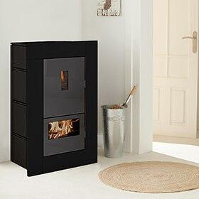 termoestufas de pellets leroy merlin. Black Bedroom Furniture Sets. Home Design Ideas
