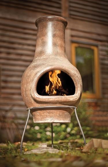 chimenea de cermica la hacienda esencial roja