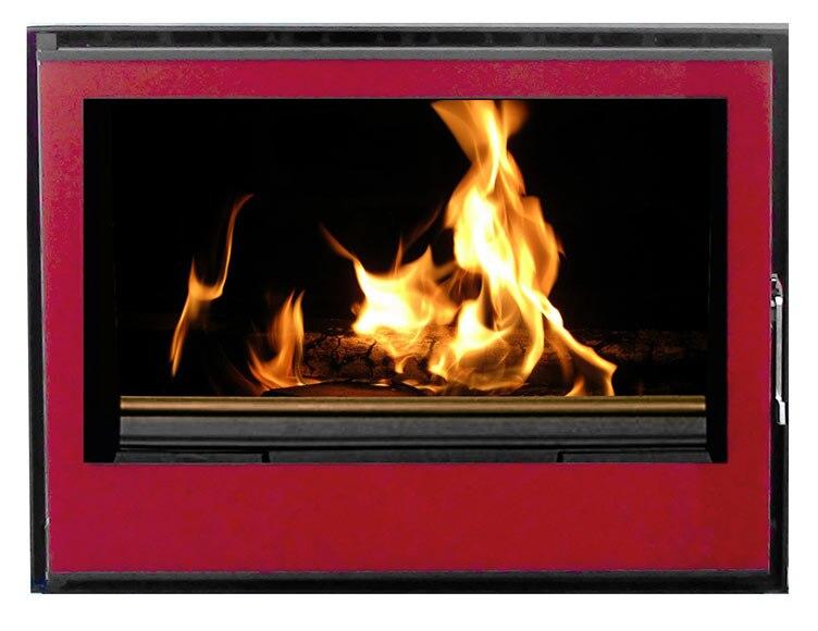 insert de hierro fundido invicta aero 700 cristal rojo ref 15291871 leroy merlin. Black Bedroom Furniture Sets. Home Design Ideas