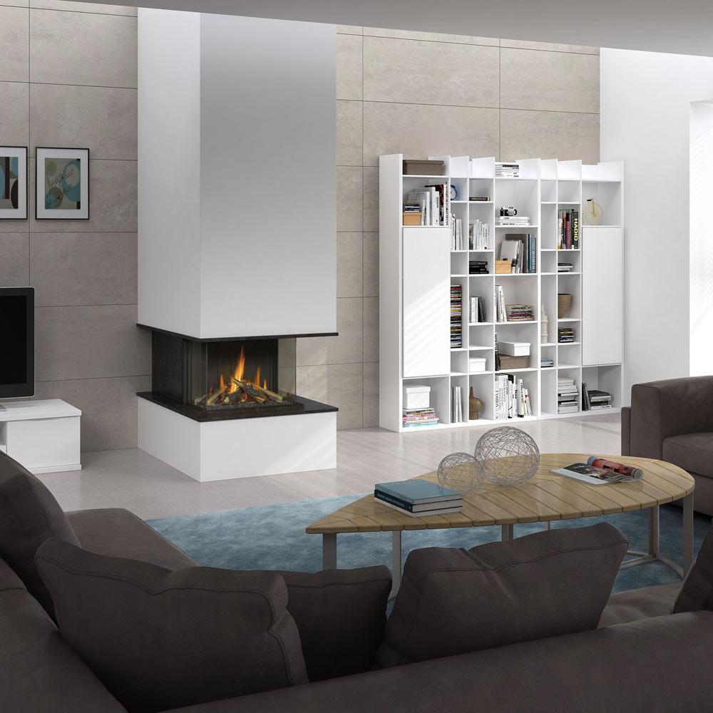 Cerrar chimenea con cristal perfect affordable puerta de hierro para chimenea con vidrio - Chimeneas con cristal ...