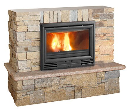 revestimiento chimenea saliente pizarras bernardos. Black Bedroom Furniture Sets. Home Design Ideas