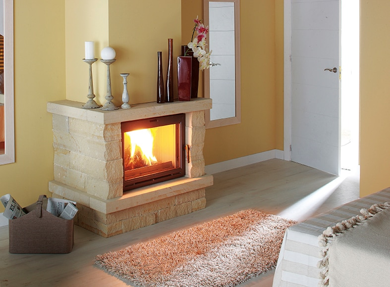revestimiento chimenea saliente pizarras bernardos almer a. Black Bedroom Furniture Sets. Home Design Ideas