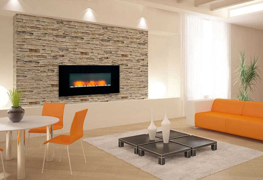 Chimenea el ctrica de pared edco vancouver ref 16548273 - Chimeneas de pared modernas ...