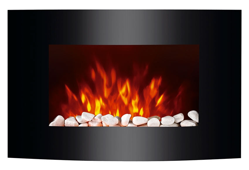Chimenea el ctrica de pared equation 2000w negro ref - Estufas decorativas electricas ...