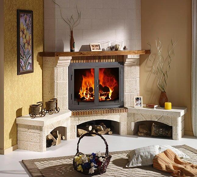Revestimiento chimenea saliente joyma elche 80 ref - Revestimiento de chimeneas modernas ...