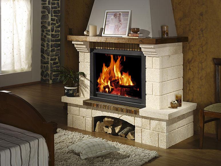 Revestimiento chimenea saliente joyma alpujarra 100 ref for Chimeneas de madera