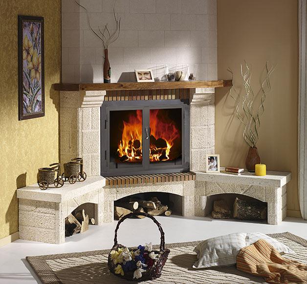 Revestimiento chimenea saliente joyma elche 100 ref for Chimeneas de madera