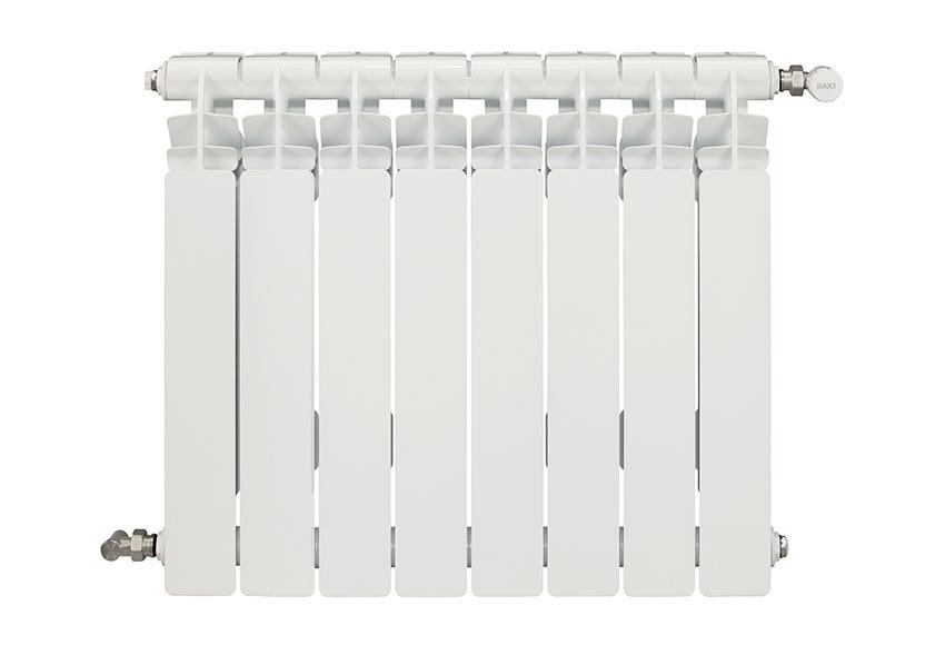 Radiador de aluminio de 8 elementos baxi mistral 45 ref - Radiadores de agua ...