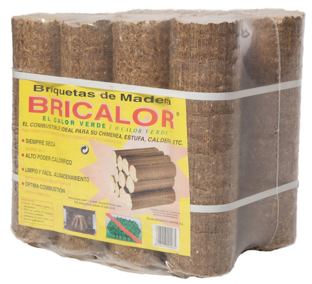 11 Briquetas De Madera Caryse 15 Kg Ref 10500315 Leroy