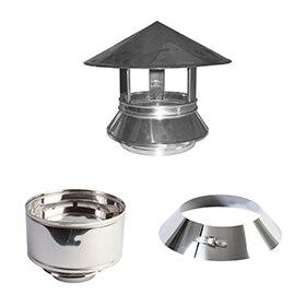 Tubos y accesorios para evacuaci n de humos leroy merlin - Tubos de acero inoxidable para chimeneas ...