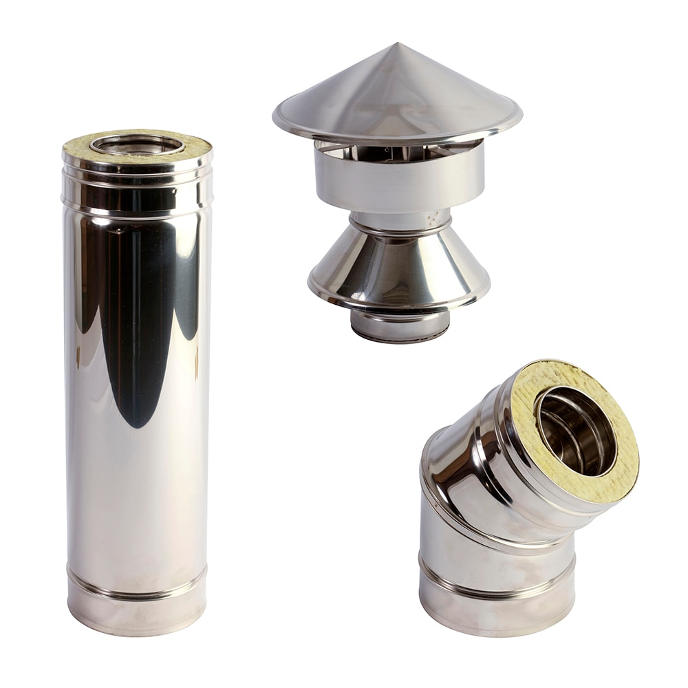80 mm pellet doble pared leroy merlin - Tubos chimenea leroy merlin ...