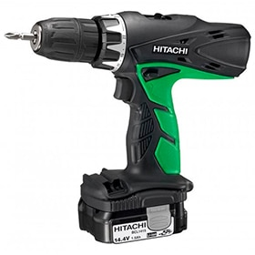 Taladro percutor HITACHI 14.4V 2 BAT (1.5AH)