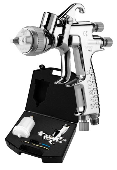 Pistola de gravedad sagola 1 4 epa ref 17009153 leroy for Pistola aerografo leroy merlin