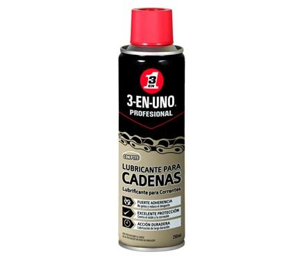 Lubricante de cadenas con PTFE 3-EN-UNO Profesional (Spray 250 ml)
