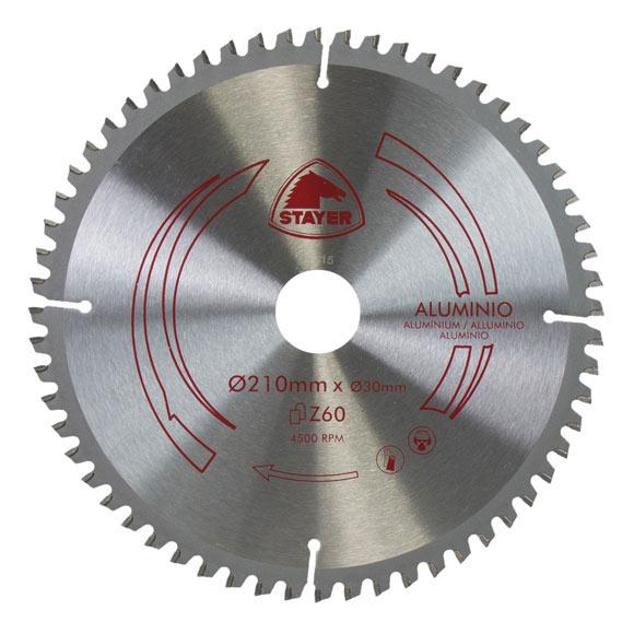 Disco para ingletadora stayer widia 210mm stayer aluminio - Discos para ingletadora ...