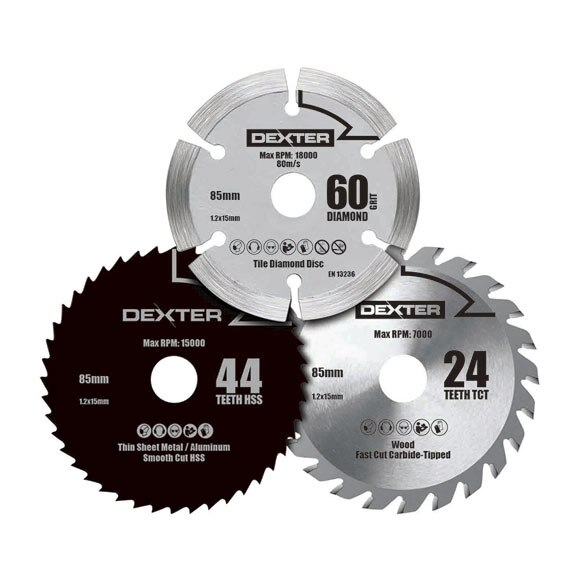 Set de tres discos dexter csc18ld ref 17463992 leroy merlin - Discos para ingletadora ...