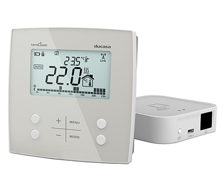 Termostato digital ducasa control 3g wifi caldera ref for Termostato leroy merlin