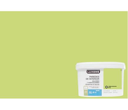 Pintura de color para paredes y techos luxens verde for Pintura pared verde