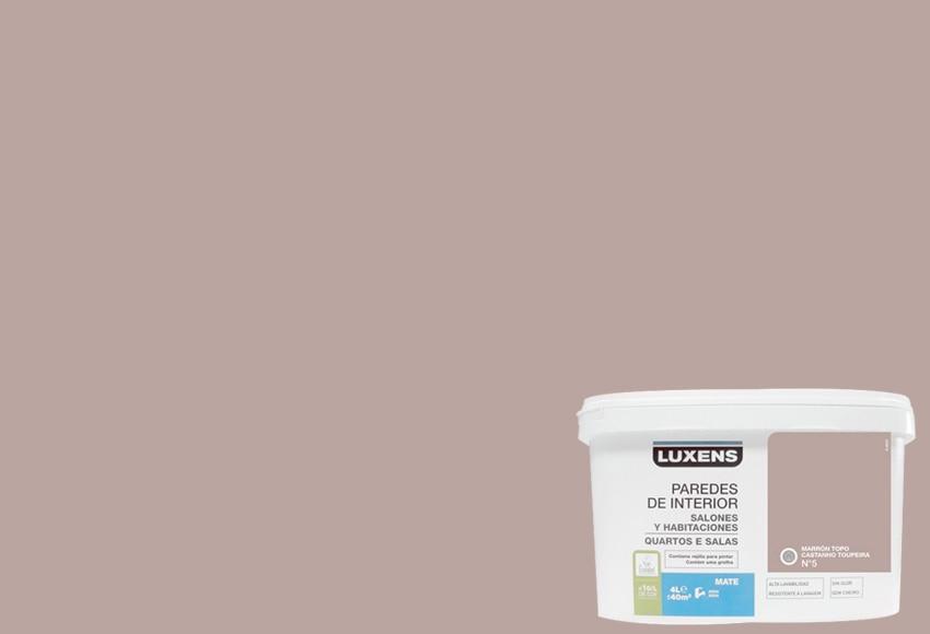 Pintura de color para paredes y techos luxens marr n topo - Pintura de pared ...