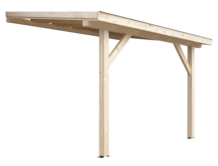 Porche de 4 x 3 m imperia ref 15554350 leroy merlin for Bache pergola leroy merlin