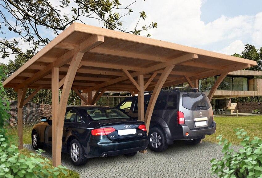 Cochera madera 6 x 5 04 m grancey ref 15554364 leroy merlin for Casas prefabricadas de madera leroy merlin
