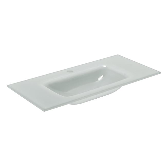 Lavabo de ba o serie encimera cristal ref 19500110 - Encimera lavabo cristal ...
