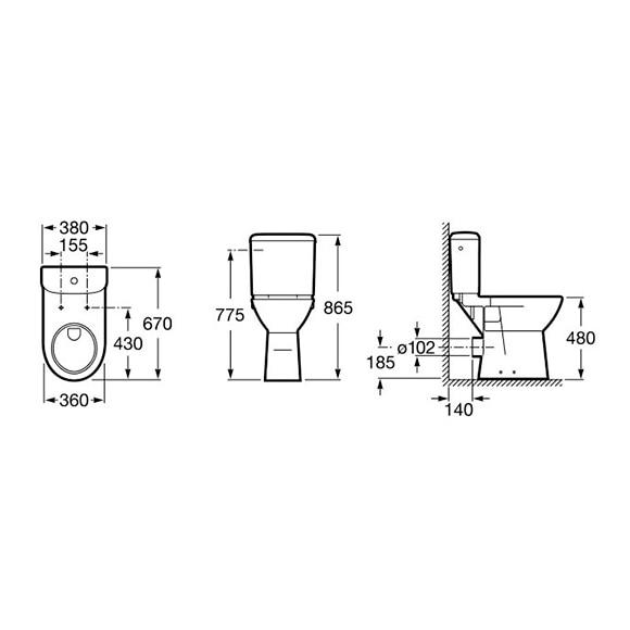 pack inodoro con salida horizontal access ref 17145065
