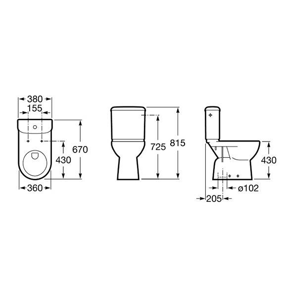 Pack inodoro con salida horizontal access ref 600105 for Medidas inodoro salida horizontal