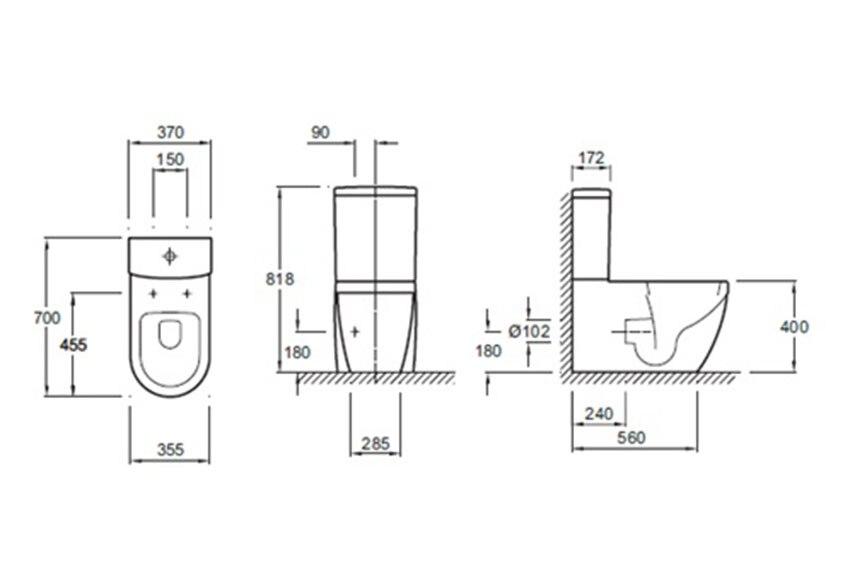 Pack inodoro con salida horizontal jacob delafon mariotte for Inodoro salida vertical horizontal