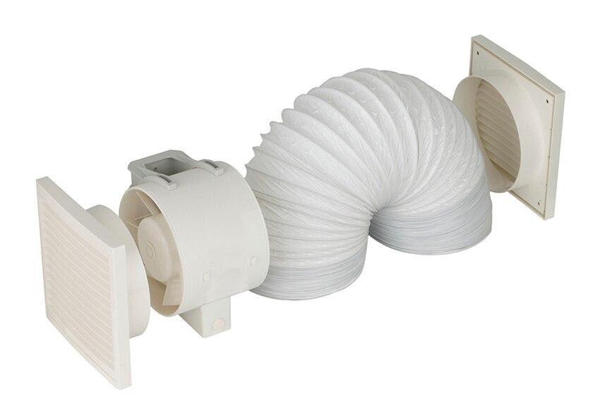 kit extractor conducto cata inline150 ref. 12233795 - leroy merlin - Extractores De Bano Para Falso Techo