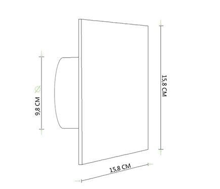 S&P Extractor de baño SILENT 100 CZ
